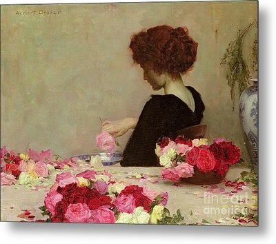 Pot Pourri Metal Print by Herbert James Draper