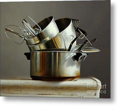 Pots And Pans Metal Print