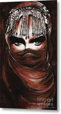 Hijab Metal Print by Qasir Z Khan