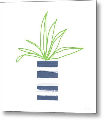 Metal Print featuring the mixed media Potted Plant 2- Art By Linda Woods by Linda Woods