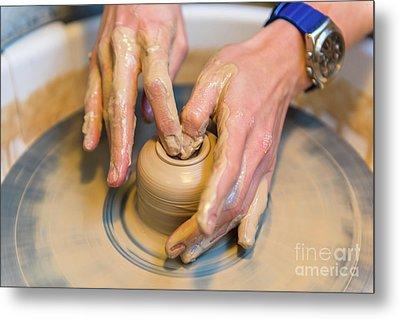 Pottering Metal Print