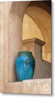 Pottery And Archways Metal Print by Sandra Bronstein