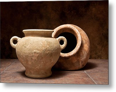 Pottery II Metal Print by Tom Mc Nemar