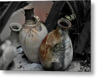 Metal Print featuring the photograph Pottery by Laura DAddona
