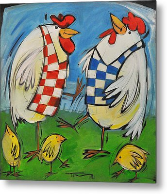 Poultry In Motion Metal Print by Tim Nyberg