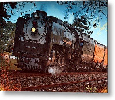 Pounding Up The Texas Grade Metal Print by J Griff Griffin