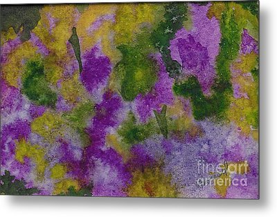 Metal Print featuring the painting Pouring Flowers by Vicki  Housel