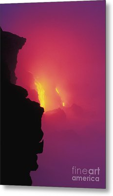 Pouring Lava Metal Print by William Waterfall - Printscapes
