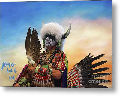 Metal Print featuring the photograph Pow Wow 3 by Jim  Hatch