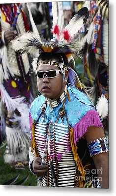 Pow Wow Beauty Of The Past 14 Metal Print by Bob Christopher