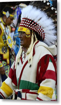 Pow Wow Beauty Of The Past 15 Metal Print by Bob Christopher