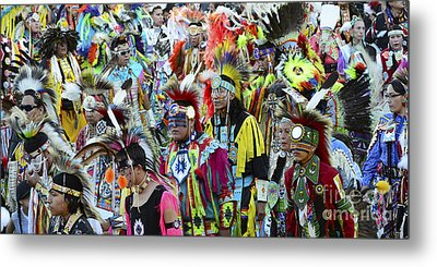 Pow Wow Beauty Of The Past 4 Metal Print by Bob Christopher