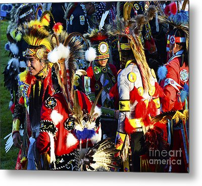 Pow Wow Beauty Of The Past 5 Metal Print by Bob Christopher