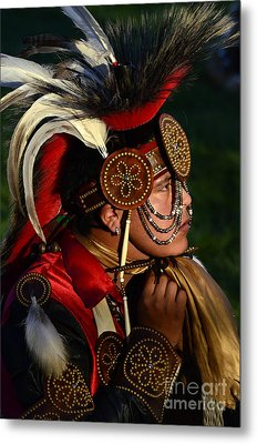 Pow Wow Beauty Of The Past 6 Metal Print by Bob Christopher