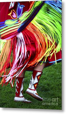 Pow Wow Beauty Of The Past 9 Metal Print by Bob Christopher