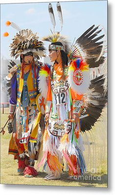 Metal Print featuring the photograph Pow Wow Contestants - Grand Prairie Tx by Dyle   Warren