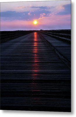 Powder Point Bridge  Metal Print