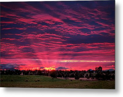 Powell Butte Oregon Sunset Metal Print
