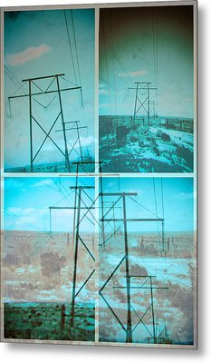 Power Line Patriots Metal Print by Bartz Johnson