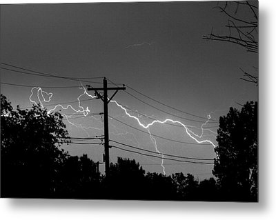 Power Lines Bw Fine Art Photo Print Metal Print by James BO  Insogna