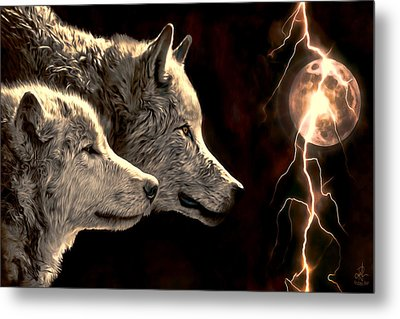 Power Of The Moon Metal Print by Pennie  McCracken