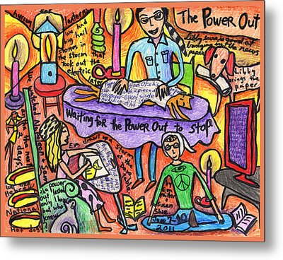 Power Out A Collaboration With Eva Miller Metal Print by Susan  Shie
