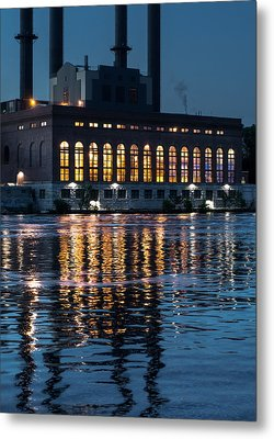 Power Plant On The Mississippi Metal Print by Jim Hughes