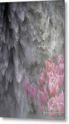 Metal Print featuring the photograph Powerful And Gentle Waterfall Art  by Valerie Garner