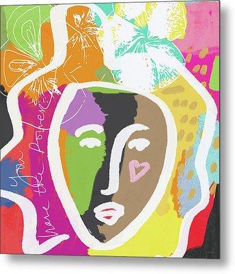 Powerful Girl- Art By Linda Woods Metal Print