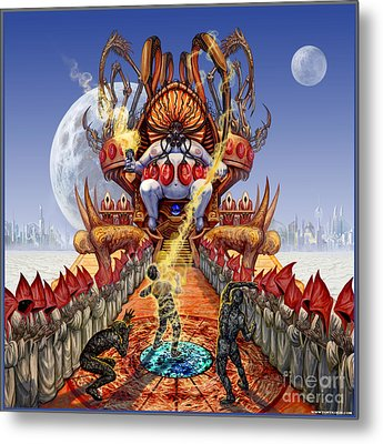 Powerless To Power Metal Print