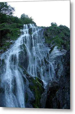 Metal Print featuring the photograph Powers Court Waterfall by Rebecca Wood