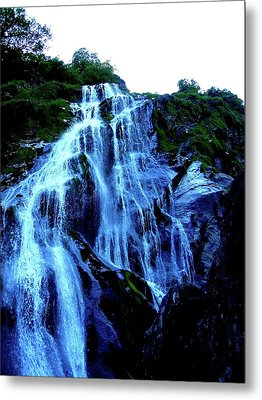 Metal Print featuring the photograph Powers Court Waterfall Version 2 by Rebecca Wood