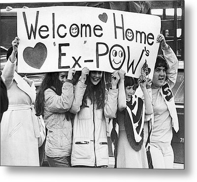 Pows Get Valentine Message Metal Print