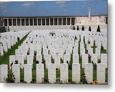 Metal Print featuring the photograph Pozieres British Cemetery by Travel Pics