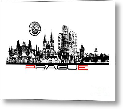 Prague Art Metal Print