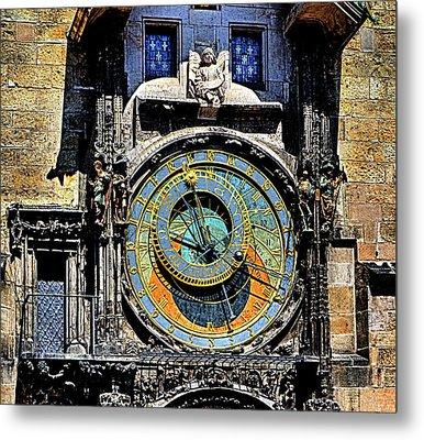 Prague Astronomical Clock 2 Metal Print