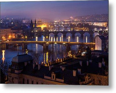 Prague Bridges Metal Print by Blaz Gvajc