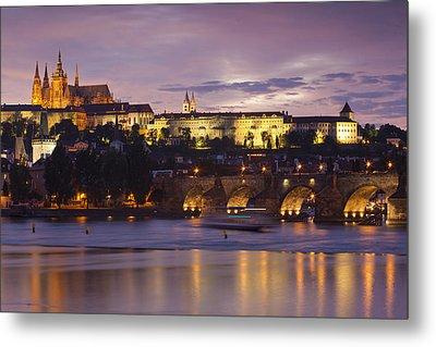 Prague Castle And Charles Bridge Metal Print by Andre Goncalves