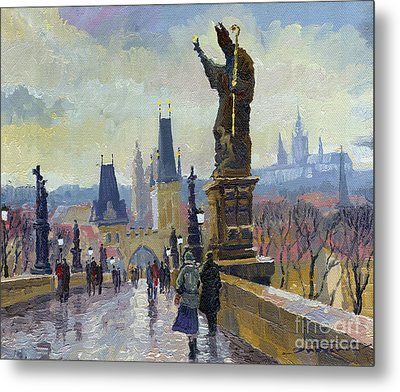 Prague Charles Bridge 04 Metal Print