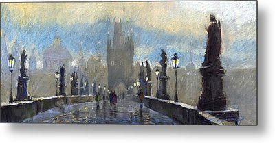 Prague Charles Bridge 06 Metal Print by Yuriy  Shevchuk