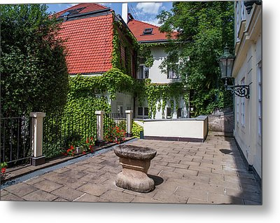 Metal Print featuring the photograph Prague Courtyards by Jenny Rainbow