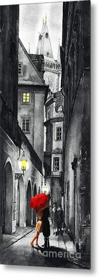 Prague Love Story Metal Print