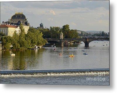 Prague-vltava River Metal Print by Leo Symon