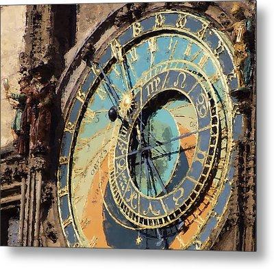 Praha Orloj Metal Print by Shawn Wallwork