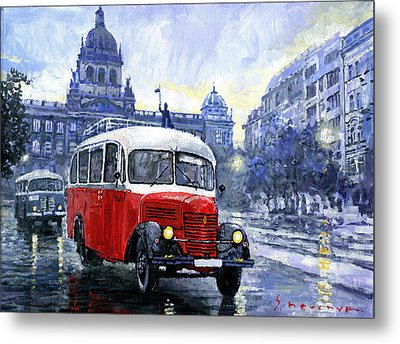 Praha Rnd Bus 1950 Skoda 706 Ro Metal Print by Yuriy Shevchuk