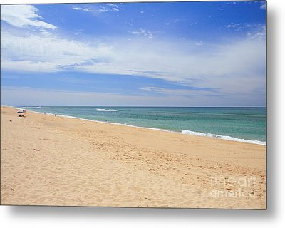 Praia De Faro Metal Print by Carl Whitfield