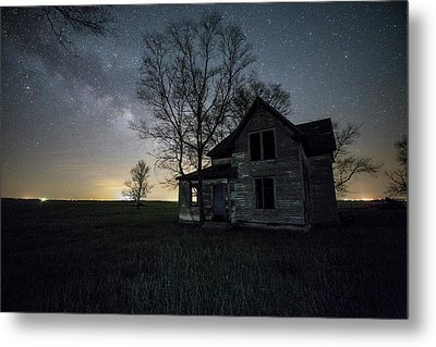 Metal Print featuring the photograph Prairie Gold And Milky Way by Aaron J Groen