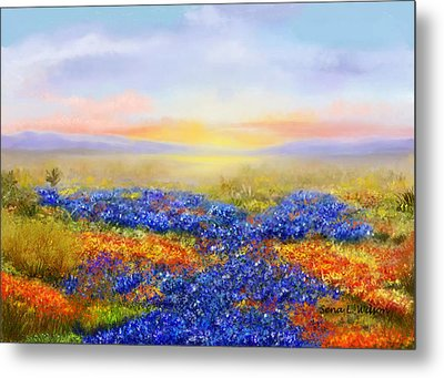 Metal Print featuring the painting Prairie In Bloom by Sena Wilson