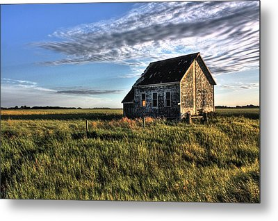 Prairie One Room School Metal Print