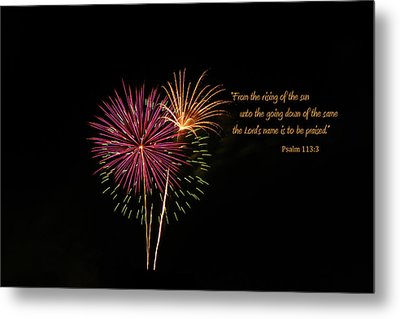Metal Print featuring the photograph Praise The Lord by Larry Bishop
